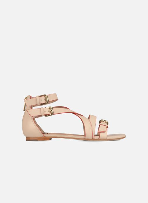 Sandales et nu-pieds Pour La Victoire Bryn Beige vue derrière