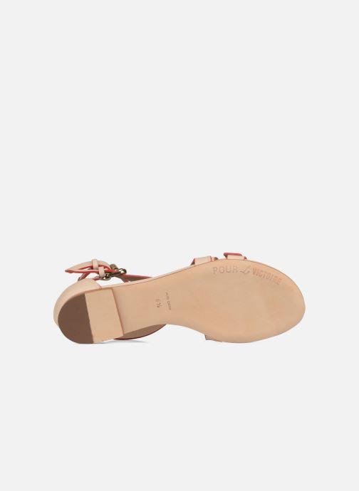 Sandales et nu-pieds Pour La Victoire Bryn Beige vue haut