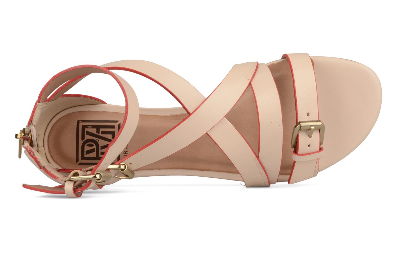 Sandals Pour La Victoire Bryn Beige view from the left
