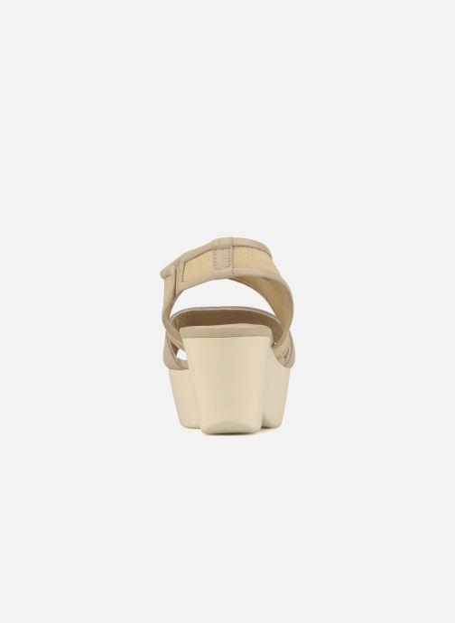 Sandales et nu-pieds Jil Sander Navy Hop Marron vue droite