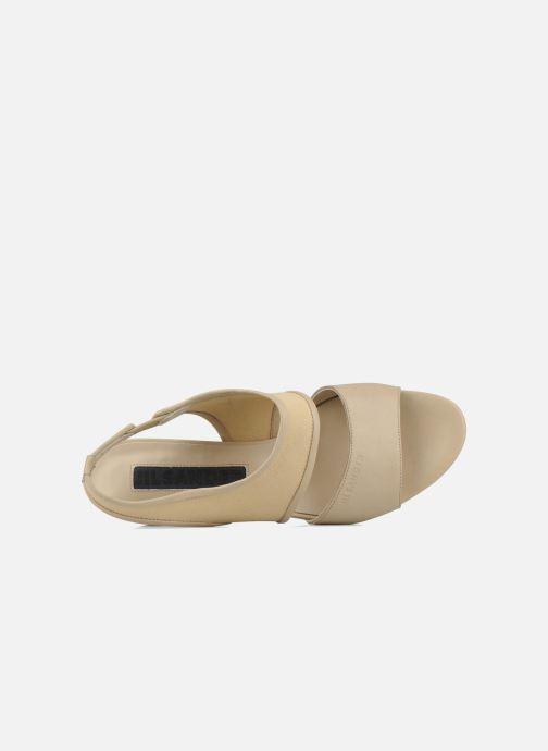 Sandales et nu-pieds Jil Sander Navy Hop Marron vue gauche