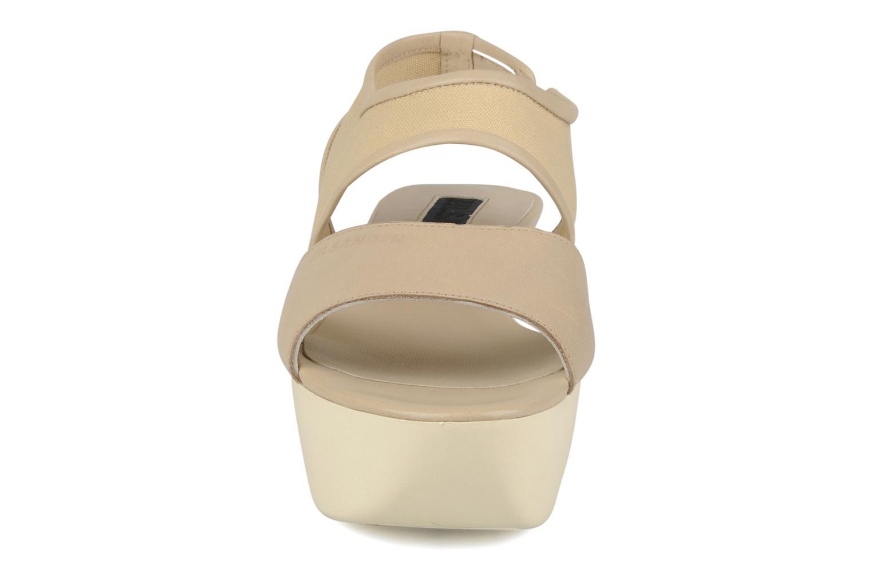Sandales et nu-pieds Jil Sander Navy Hop Marron vue portées chaussures