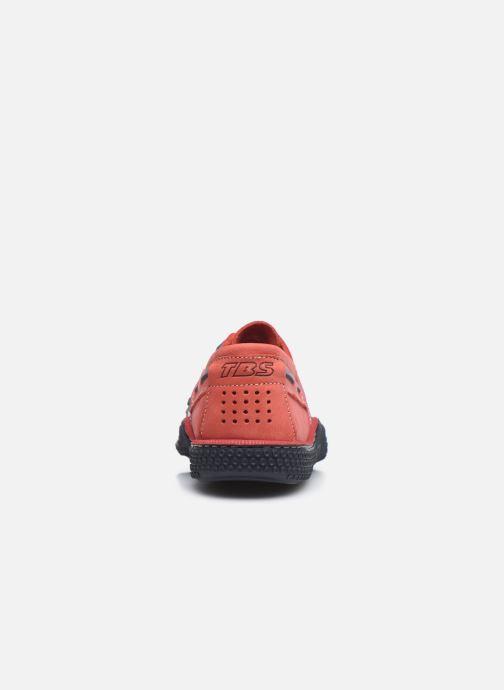 Zapatos con cordones TBS Globek Rojo vista lateral derecha