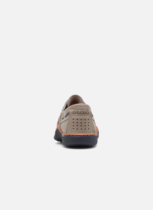 Zapatos con cordones TBS Globek Gris vista lateral derecha