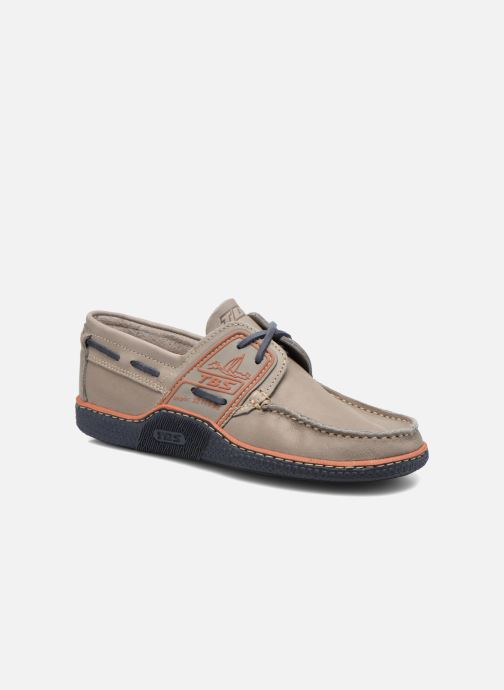 Zapatos con cordones TBS Globek Gris vista de detalle / par