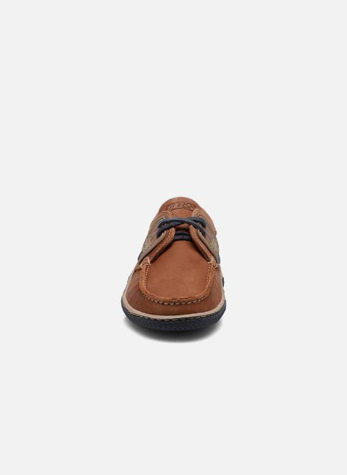 Zapatos con cordones TBS Globek Marrón vista del modelo