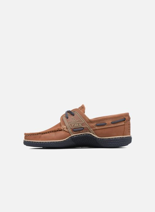 Lace-up shoes TBS Globek Brown front view