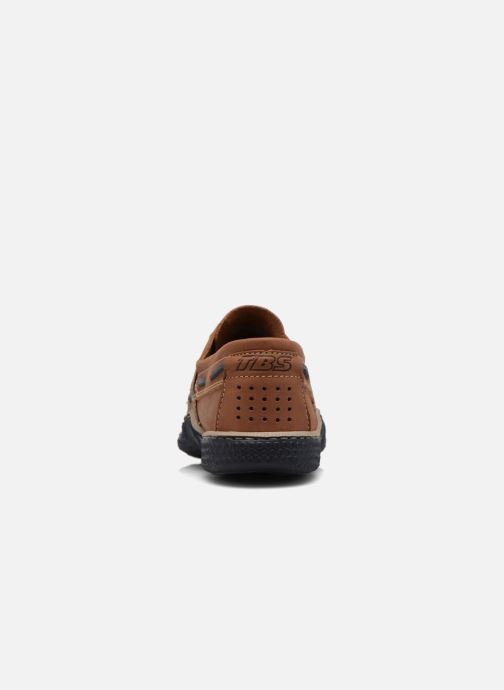 Lace-up shoes TBS Globek Brown view from the right
