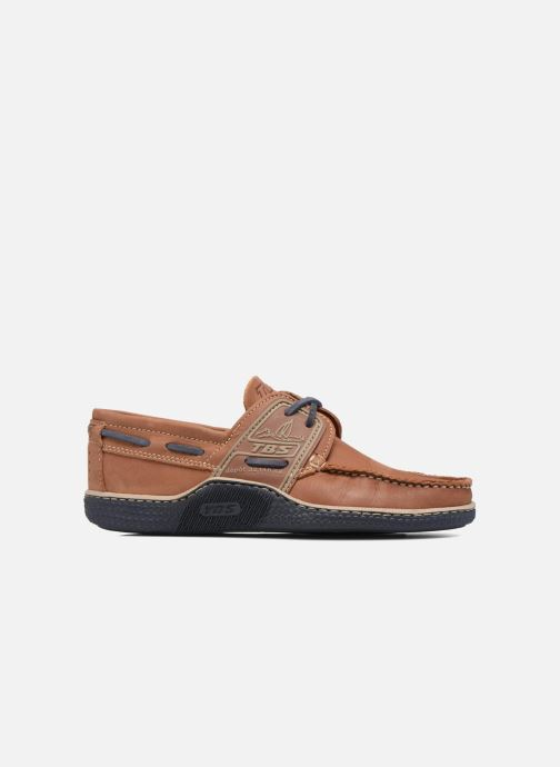 Lace-up shoes TBS Globek Brown back view