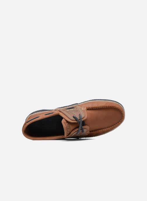 Lace-up shoes TBS Globek Brown view from the left
