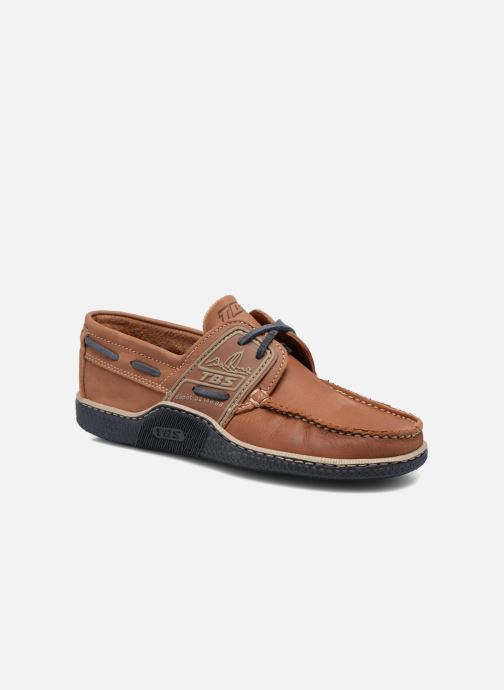 Lace-up shoes TBS Globek Brown detailed view/ Pair view