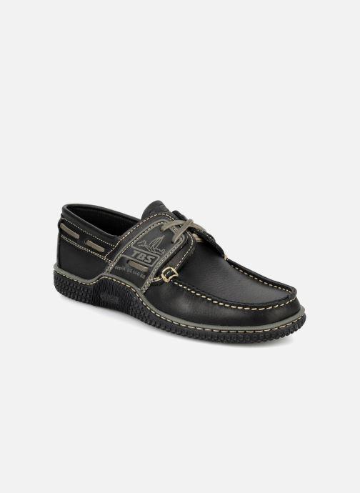 Zapatos con cordones TBS Globek Negro vista de detalle / par