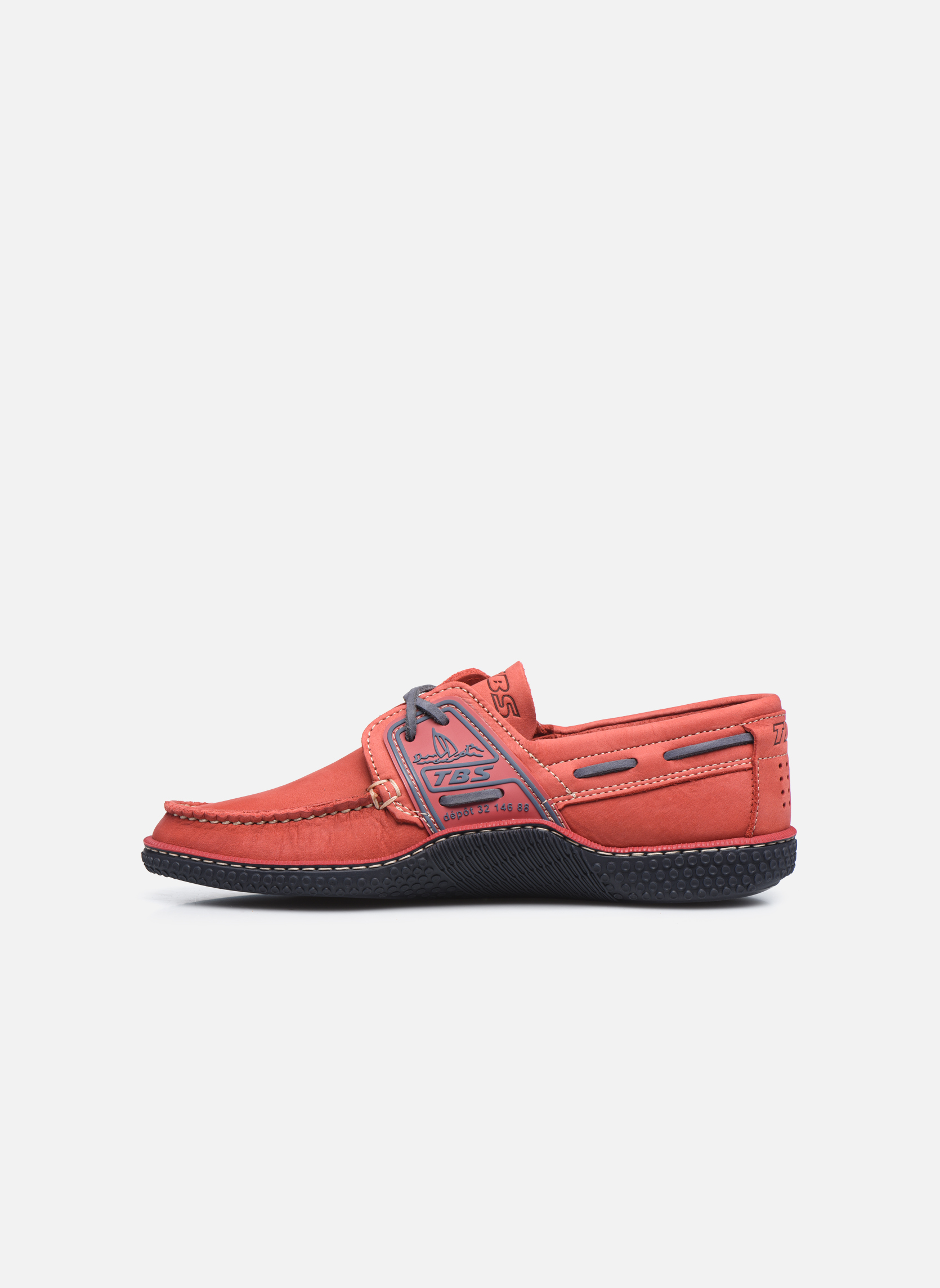 Chaussures à lacets TBS Globek Rouge vue face