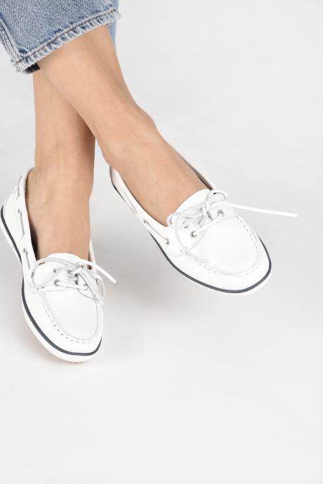 Chaussures à lacets TBS Clamer Blanc vue bas / vue portée sac