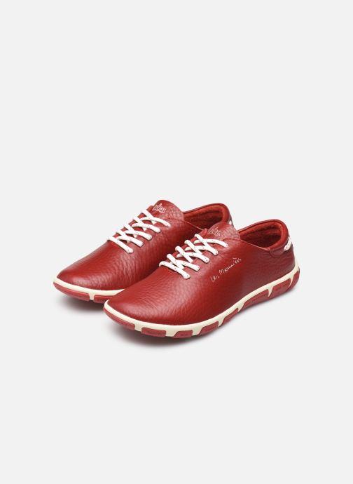 Chaussures à lacets TBS Jazaru Rouge vue bas / vue portée sac