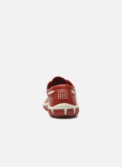 Chaussures à lacets TBS Jazaru Rouge vue droite