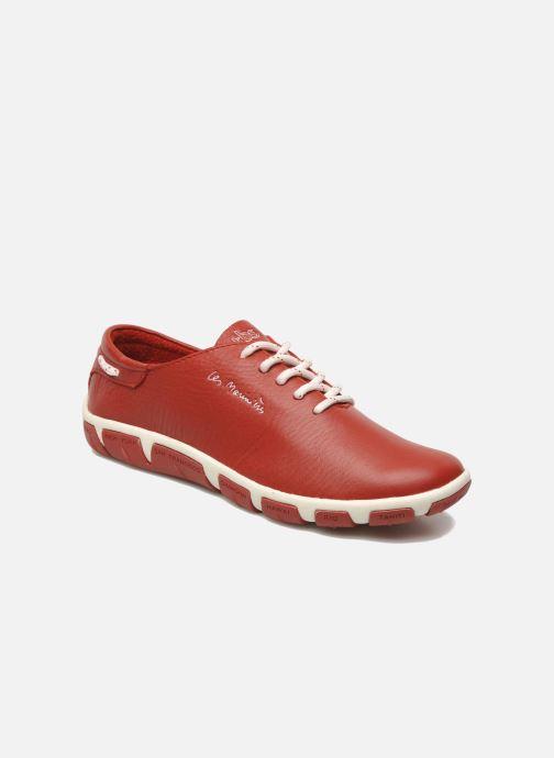 Chaussures à lacets TBS Jazaru Rouge vue détail/paire