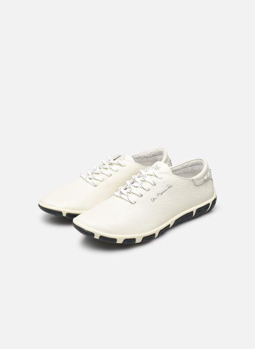 Chaussures à lacets TBS Jazaru Blanc vue bas / vue portée sac