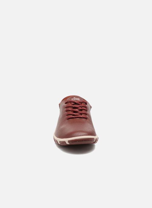Lace-up shoes TBS Jazaru Burgundy model view