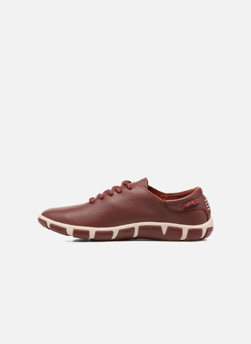 Lace-up shoes TBS Jazaru Burgundy front view