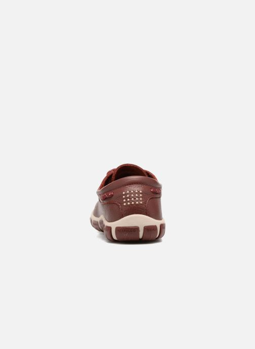 Lace-up shoes TBS Jazaru Burgundy view from the right