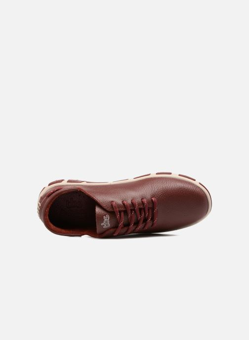 Lace-up shoes TBS Jazaru Burgundy view from the left