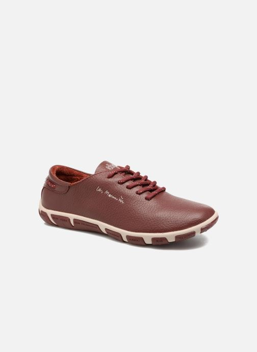 Lace-up shoes TBS Jazaru Burgundy detailed view/ Pair view
