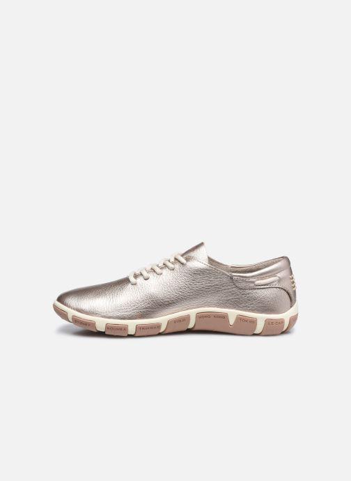 Zapatos con cordones TBS Jazaru Oro y bronce vista de frente