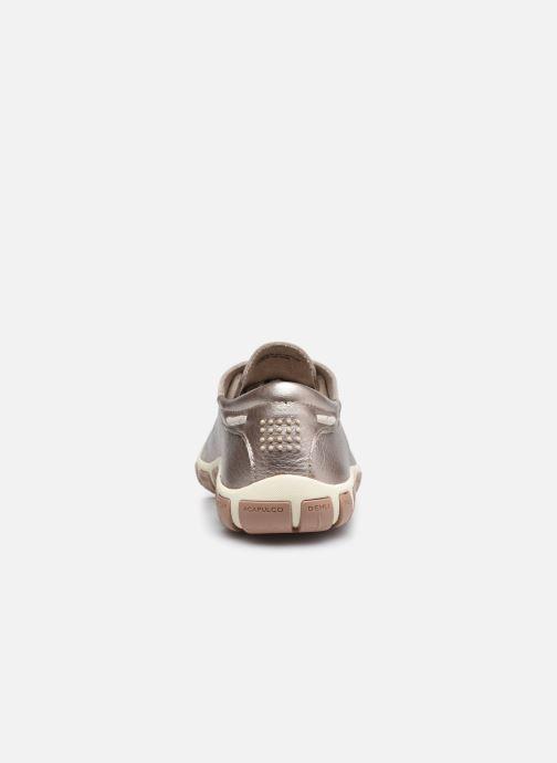 Zapatos con cordones TBS Jazaru Oro y bronce vista lateral derecha