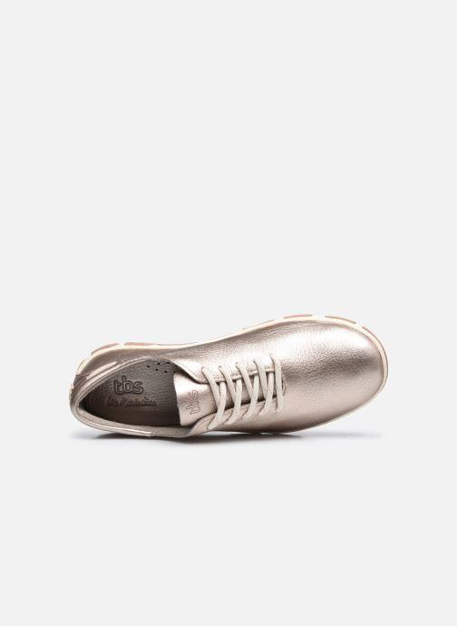 Zapatos con cordones TBS Jazaru Oro y bronce vista lateral izquierda