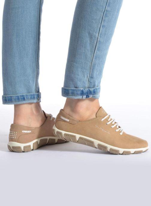 Chaussures à lacets TBS Jazaru Beige vue bas / vue portée sac