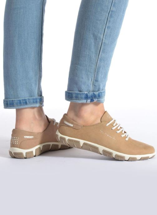 Chaussures à lacets TBS Jazaru Bleu vue bas / vue portée sac
