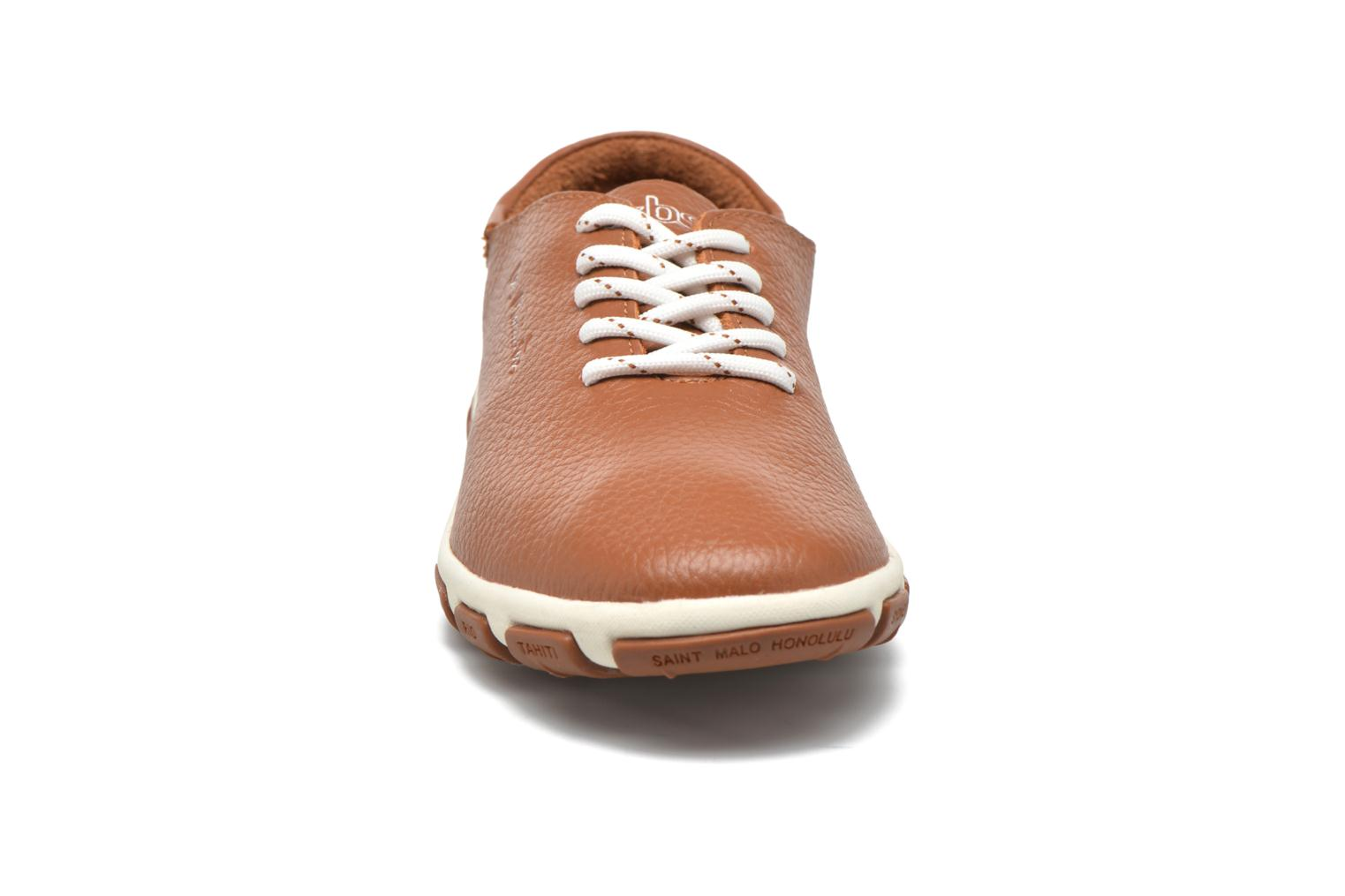 Lace-up shoes TBS Jazaru Brown model view
