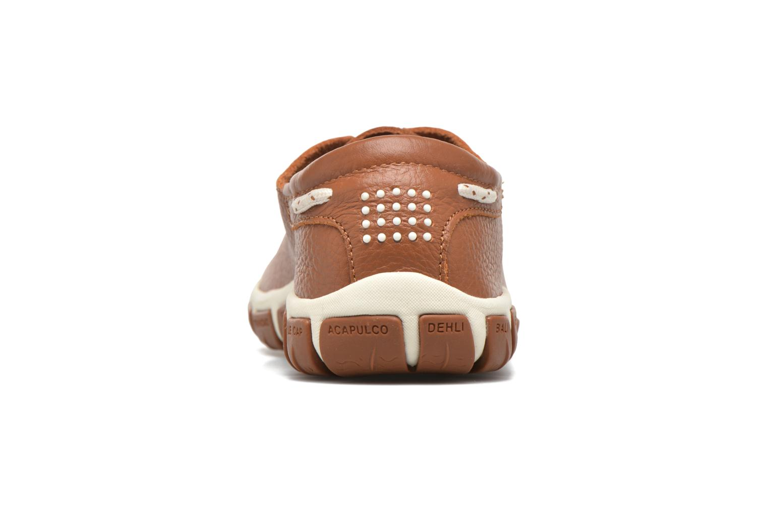 Lace-up shoes TBS Jazaru Brown view from the right