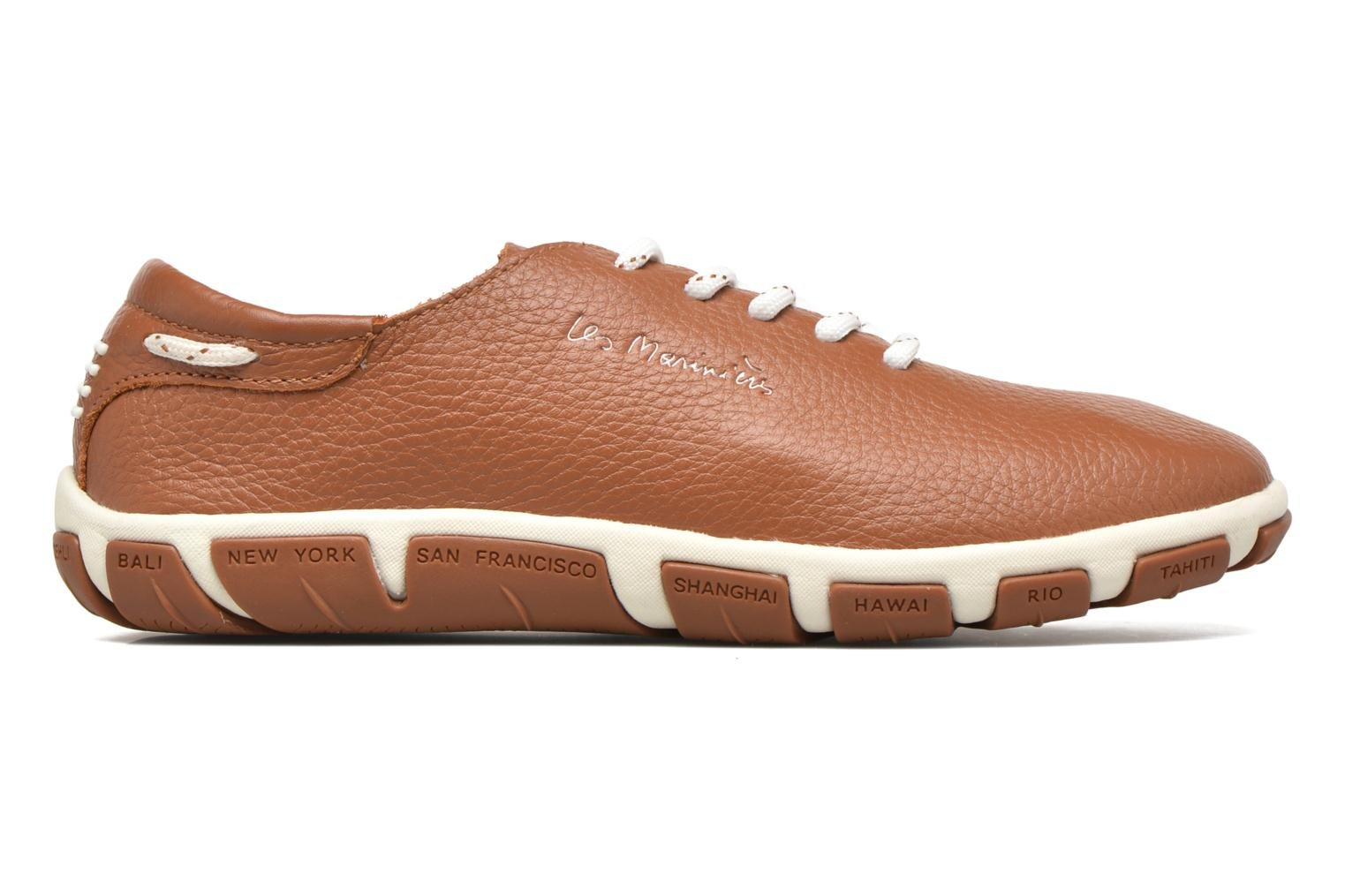 Lace-up shoes TBS Jazaru Brown back view