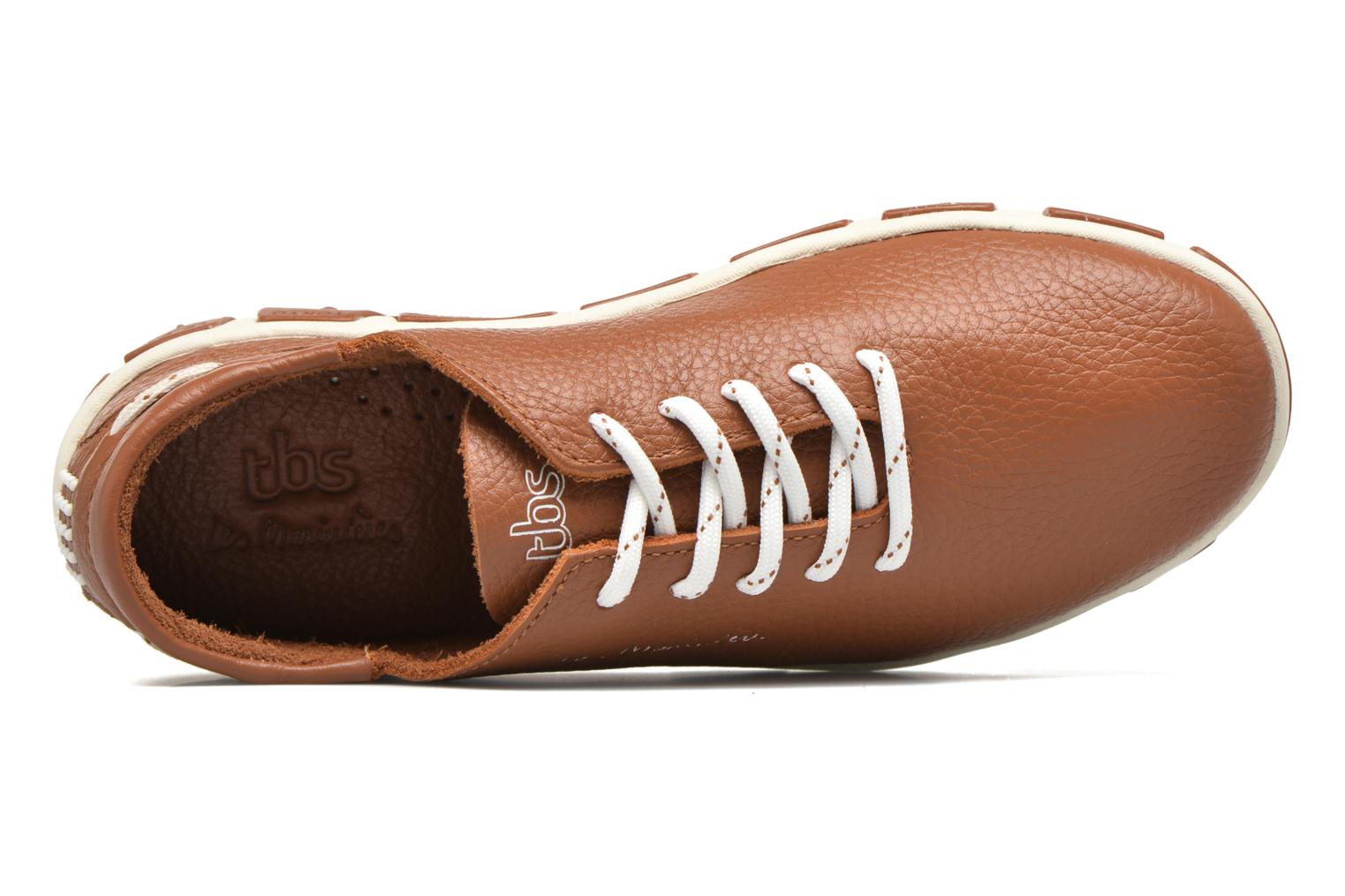 Lace-up shoes TBS Jazaru Brown view from the left