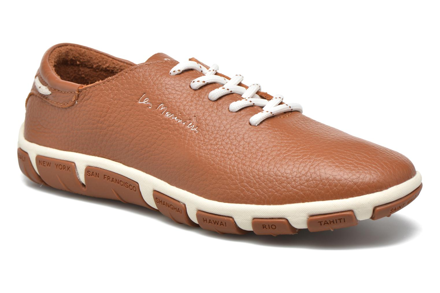 Lace-up shoes TBS Jazaru Brown detailed view/ Pair view