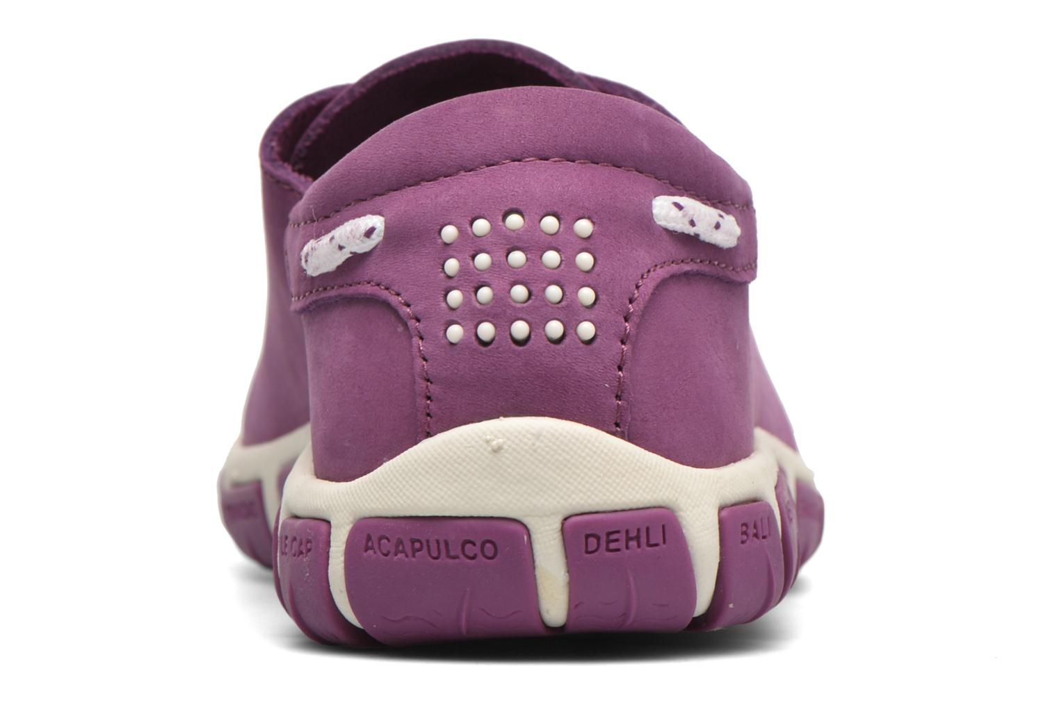Lace-up shoes TBS Jazaru Purple view from the right