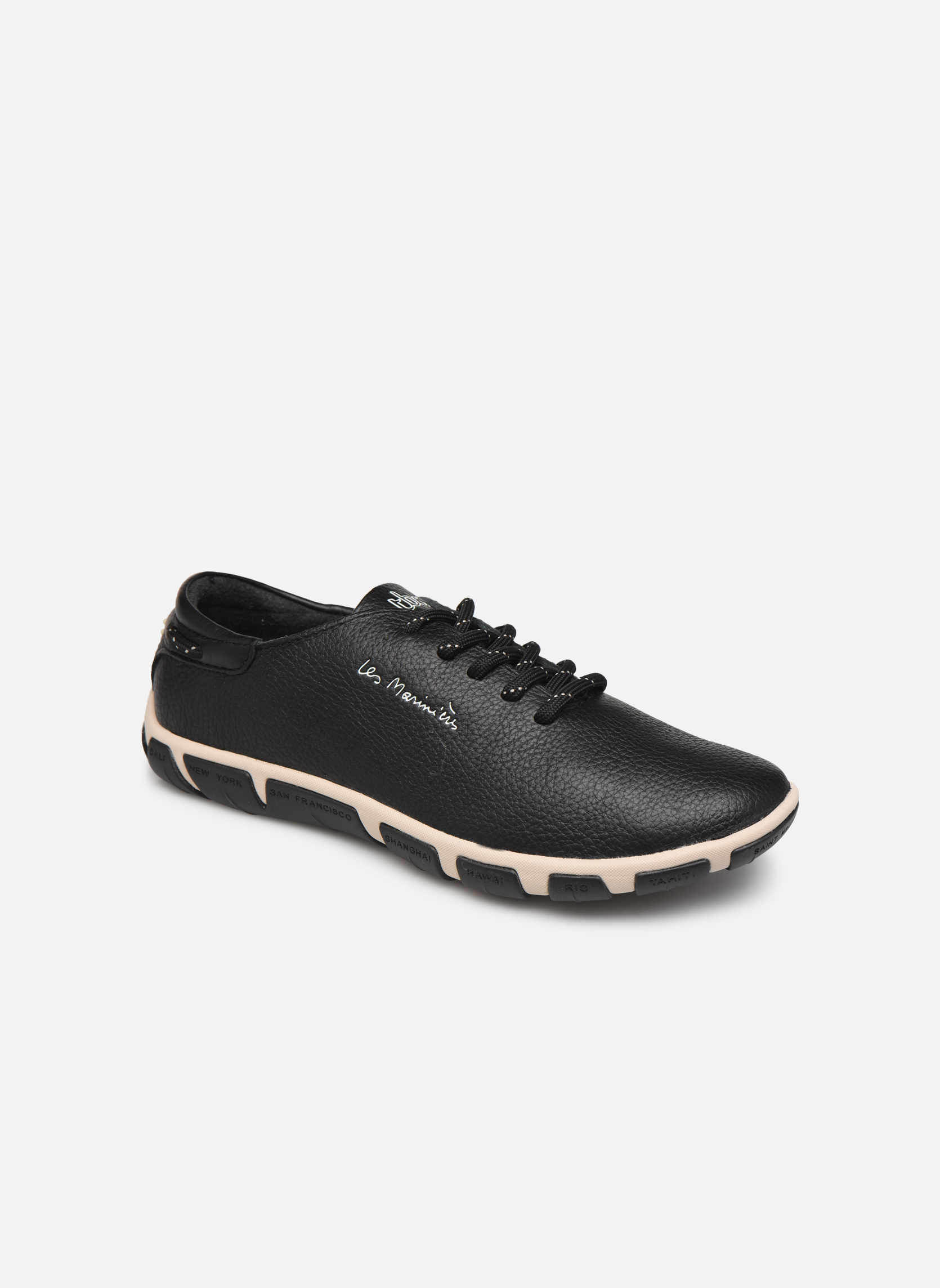 Lace-up shoes TBS Jazaru Black detailed view/ Pair view