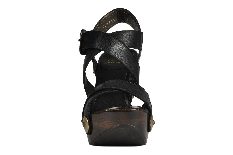 Sandales et nu-pieds Stuart Weitzman Faceup Noir vue portées chaussures