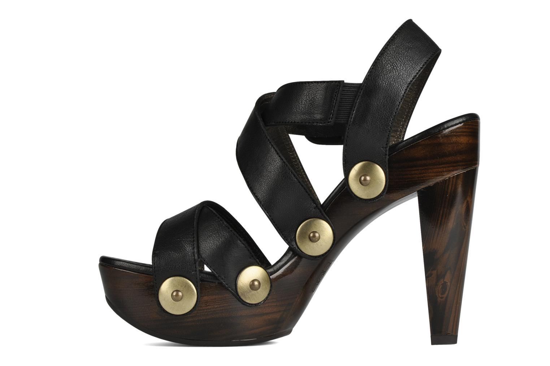 Sandales et nu-pieds Stuart Weitzman Faceup Noir vue face