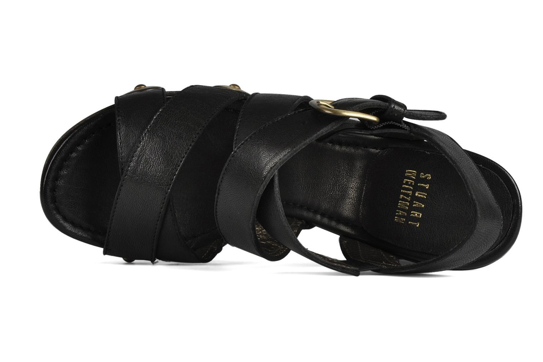 Sandales et nu-pieds Stuart Weitzman Faceup Noir vue gauche