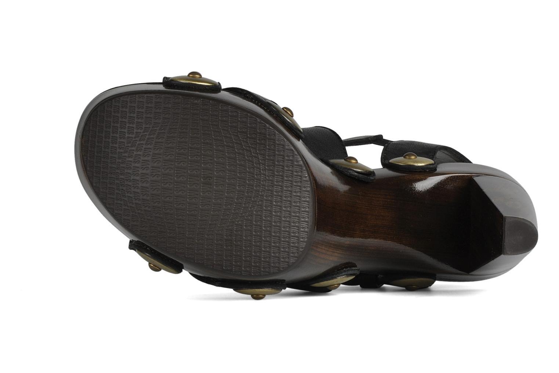 Sandales et nu-pieds Stuart Weitzman Faceup Noir vue haut