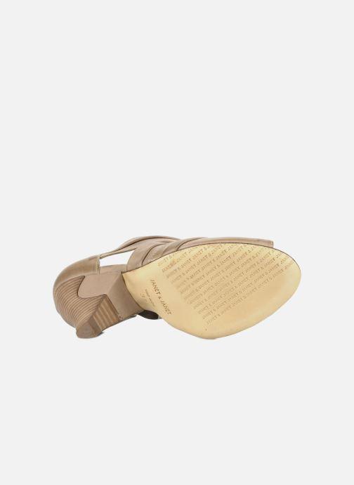 Sandales et nu-pieds Janet & Janet Vitti Beige vue haut
