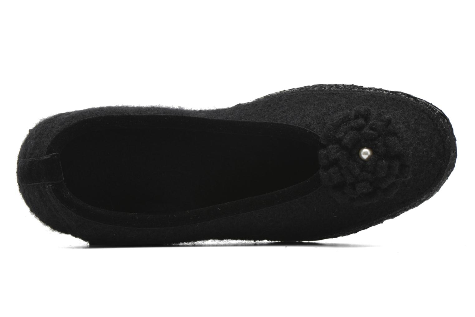 Slippers Giesswein Laubach Black view from the left