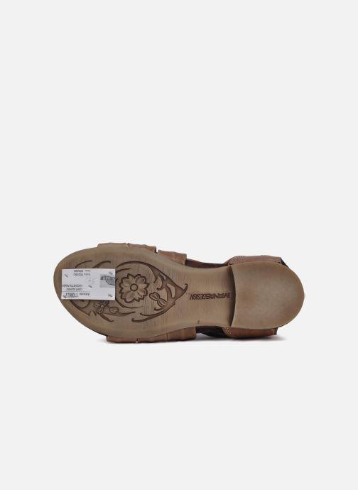 Sandales et nu-pieds Manas Lazos Gris vue haut