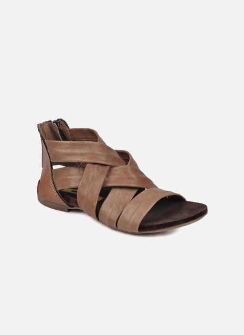 Sandales et nu-pieds Manas Lazos Gris vue détail/paire