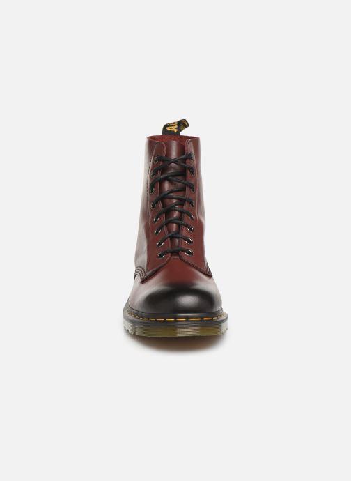 Bottines et boots Dr. Martens PASCAL M Bordeaux vue portées chaussures