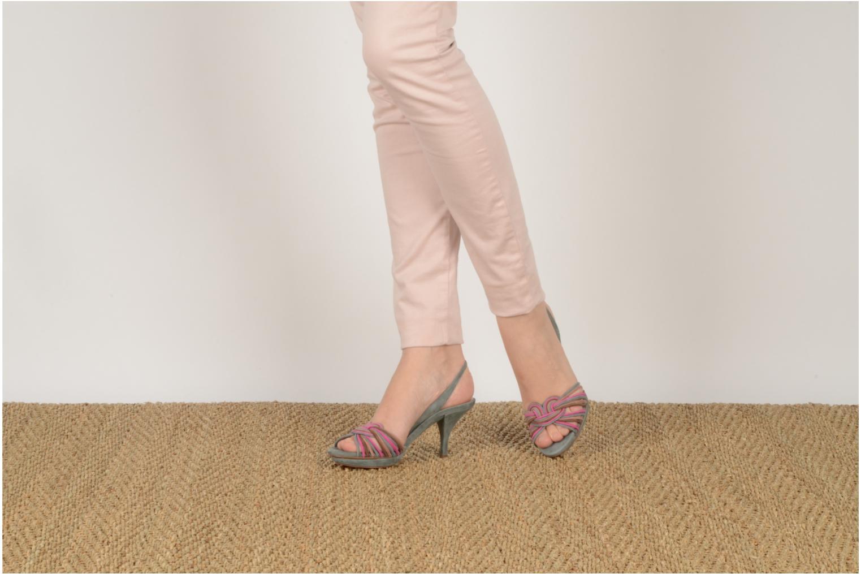 Sandales et nu-pieds Pura Lopez Lopy Or et bronze vue bas / vue portée sac