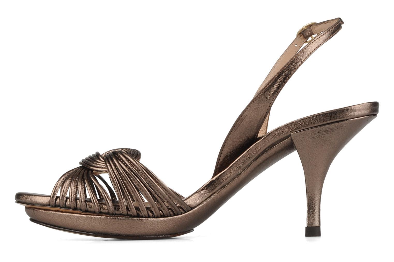 Sandales et nu-pieds Pura Lopez Lopy Or et bronze vue face
